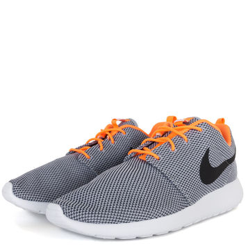NIKE - MENS SHOES - RUNNING - Nike Roshe Run - Wolf Grey Black Atomic Orange White - Buy Online at DTLR