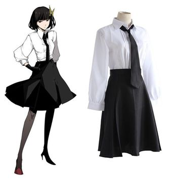 Anime Bungo Stray Dogs Detective Agency Member Akiko Yosano Cosplay Costumes Shirt & Skirt & Tie & Gloves School Uniform Suit