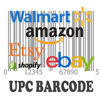 100,000 UPC Code Number For Listing on Amazon Walmart Ebay Etsy Shopify EAN Code