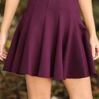 Autumn In New England Skirt-Plum