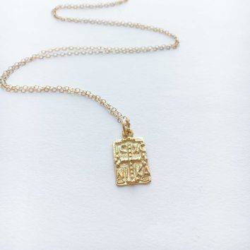 Constantine Necklace • Gold Layered Necklace • Jesus Christ Necklace • Baptism Gift • Christening Gift • Byzantine necklace • Greek Necklace