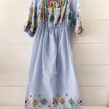 Charlie Colorful Embroidered Maxi