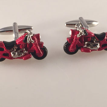 Motorcycle Cufflinks, Easy Rider Cuff Links, Road Warrior Cuff Links, Men's Cuff Links, Wedding Cuff Links, Father's Day, Graduation Gift