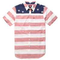 Quiksilver Sergeant Stripe Short Sleeve Woven Shirt at PacSun.com