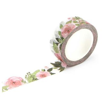 1.5cm Wide Luxuriant Flowers Washi Tape Adhesive Tape DIY Scrapbooking Sticker Label Masking Tape Summer melon