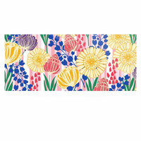 """Amy Reber """"Pretty Bouquet"""" Yellow Floral Luxe Rectangle Panel"""