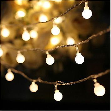 10M led string lights with 50led ball AC220V holiday decoration lamp Festival Christmas lights outdoor lighting