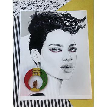 Back in stock! Naturally Dope Afrocentric Earrings