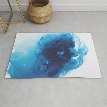Vishuddha (Throat Chakra) Rug by duckyb