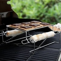 Charcoal Companion Stainless S'mores Roasting Rack with Skewers - CC3112