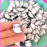 KITTY GHOST PIN