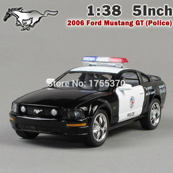 Brand New Ford 2006 Mustang GT Police Car Alloy Diecast Model Car Vehicle Toy Collection As Gift For Boy Children