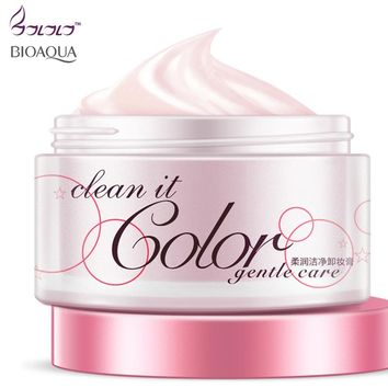BIOAQUA beauty gentle cleansing cream clean it color remove makeup clean fresh its skin cleansing oil makeup remover skin care