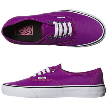 SURFSTITCH - FOOTWEAR - WOMENS FOOTWEAR - SNEAKERS - VANS WOMENS AUTHENTIC SHOE - NEON PURPLE TRUE WHITE