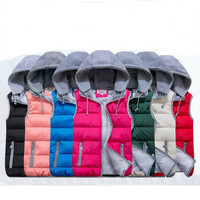 Hot! Fashion Down Vest Jacket For Man and Wome Lovers Down Hooded Vest men's jacket Men jacket W134