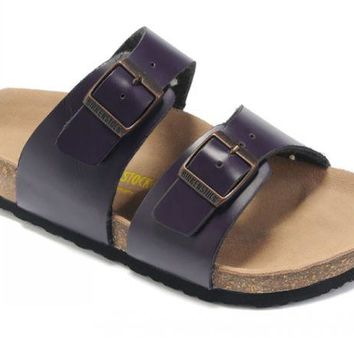 Birkenstock Sydney Sandals Leather Purple - Ready Stock