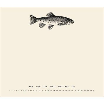 Trout Perpetual Mousepad Calendar, Hunting | Fishing by Incredibly Charming