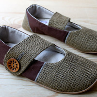 Organic Vegan Shoes Lotus Mary Jane by HydraHeart on Etsy