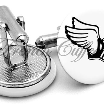 Running Shoes Athlete Wings Cufflinks