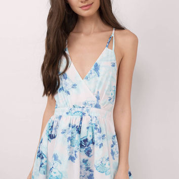 In The Moment Floral Print Romper