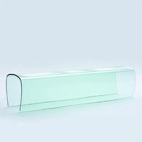 Bent glass bench prototype (one of seven) by Naoto Fukasawa
