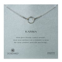 Dogeared, The Original Karma Necklace, Sterling Silver 16 inch