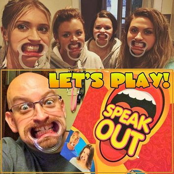 SPEAK OUT Funny Mouthpiece Game Board Family Party Game