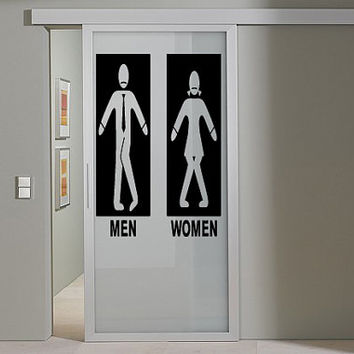Wall Decor Art Vinyl Sticker Decals Mural Design Funny Toilet Restroom Sign 505