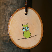 Owl Keychain by starlightwoods on Etsy