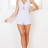 Looking Good playsuit in light grey Produced By SHOWPO
