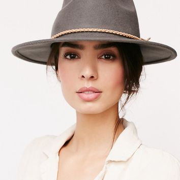 Free People Joan Leather Banded Hat