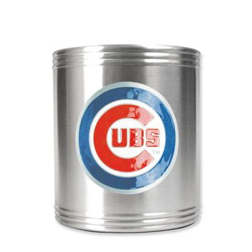 Chicago Cubs Insulated Stainless Steel Holder - Engravable Gift Item