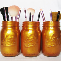 Gold Mason Jar Set