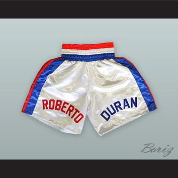 Roberto 'Hands of Stone' Duran Red/White/Blue Boxing Shorts