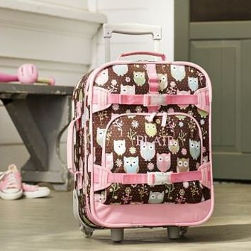 Mackenzie Chocolate Owl Small Luggage