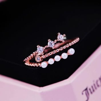 New Arrival Jewelry Stylish Gift Shiny Simple Design Design Pearls Ring [6586154823]