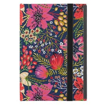 Vintage Bright Floral Pattern iPad Mini Case
