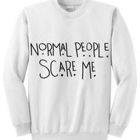 "American Horror Story ""Normal People Scare Me"" Tate Quote Crew Neck Sweatshirt"