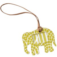 John Robshaw Textiles - Moss Elephant - Luggage Tags - Travel
