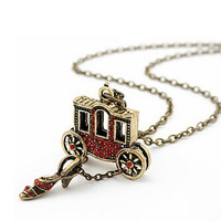 Dinora Carriage and Slipper Necklace - 1102283-7