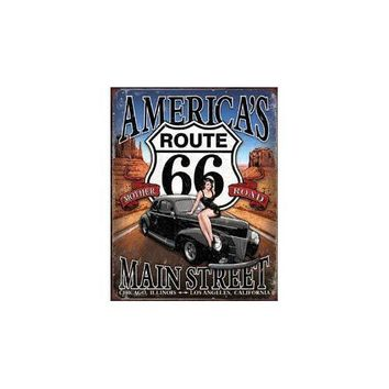 Tin Sign Route 66 - America's Main Street