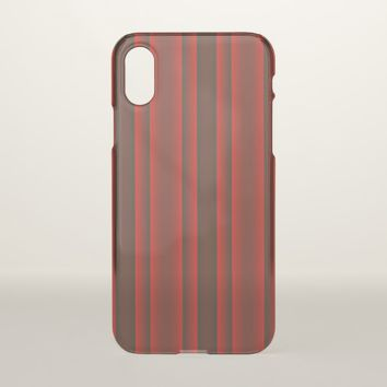 Red and Black Stripes iPhone X Case