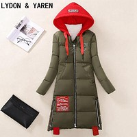 women's parks winter jacket 2017 long women's winter coat Clothes jacket Fashionable warm women's coat