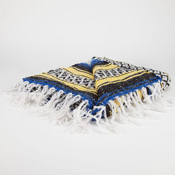 Bright Stripe Serapa Blanket Blue/White One Size For Men 24546827301