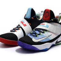 DCCKIJ2 Nike Mens Lebron Synthetic 11 What the Lebron Basketball Shoes