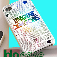 Imagine Dragons Quotes For Iphone 4/4s, iPhone 5/5s, iPhone 5C, iphone 6, and iPhone 6 Plus Case