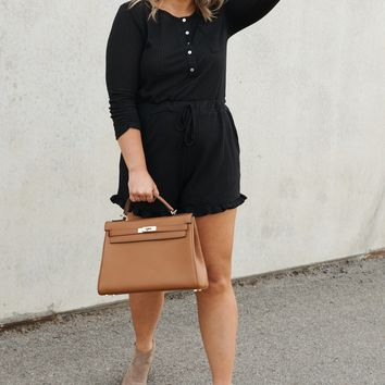 Not Your Average Romper (Black)