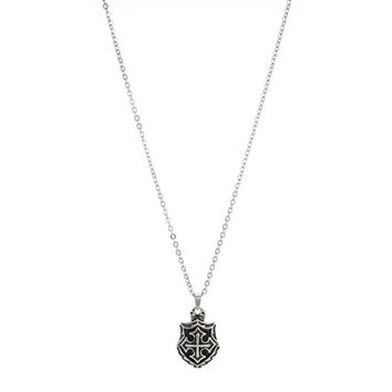 Maltese Cross Shield Pendant