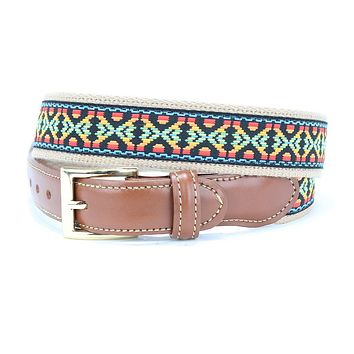 Guitar Strap Leather Tab Belt by Country Club Prep