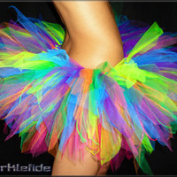 Rainbow Reversible Tutu by SparkleFide on Etsy